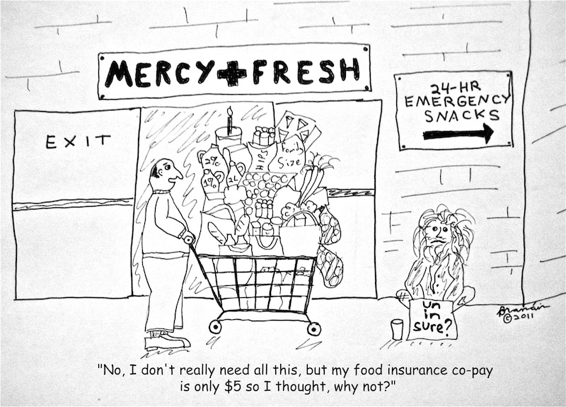 Cartoon: what life would be like if we had food insurance