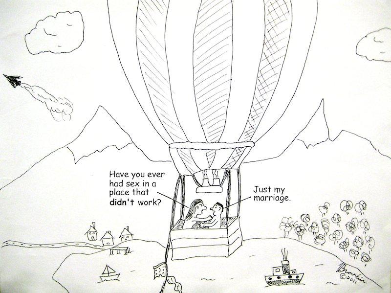Sex in hot air balloon