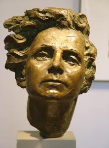 bronze bust of rachel carson - environmentalist