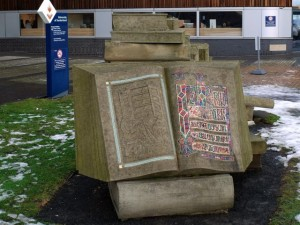 book sculpture | 'Pathways of Knowledge' by Colin Wilbourn, University of Sunderland