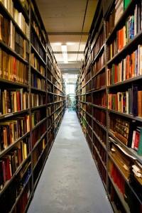 San Francisco Public Library book shelves