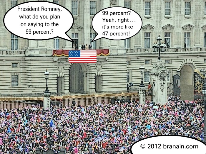 Mitt Romney address the 99 percent at his inauguration