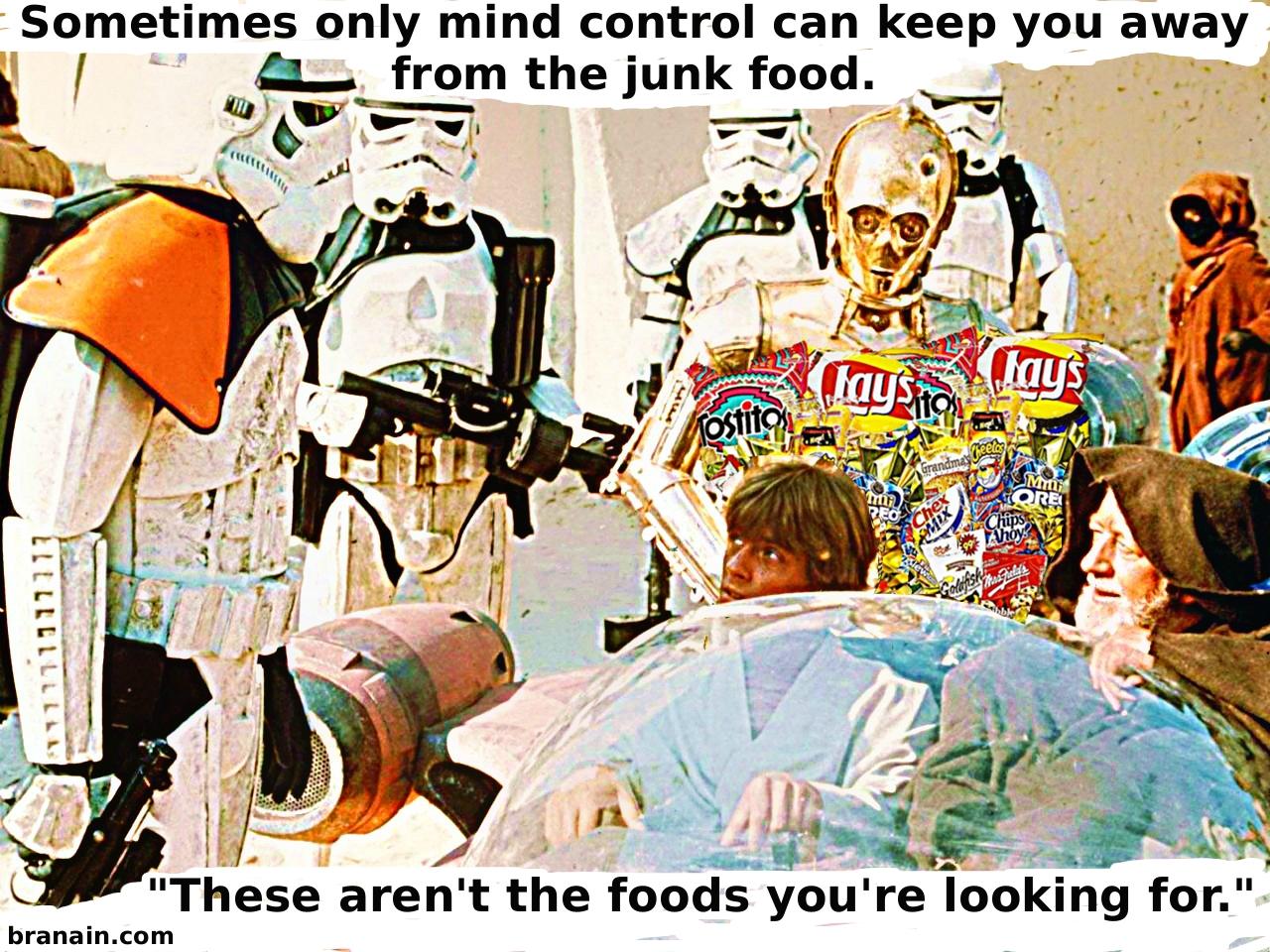 Star Wars diet - how to resist junk food