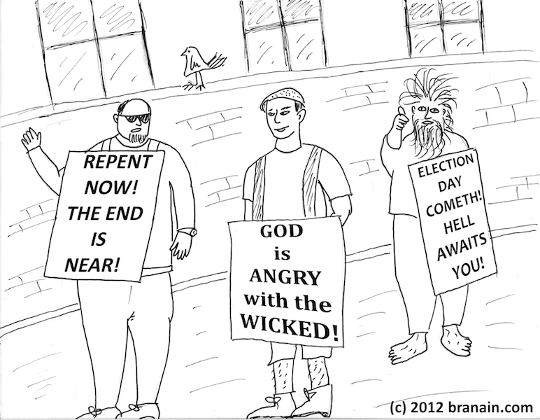 Election Day 2012: The End is Near (cartoon by Branáin)