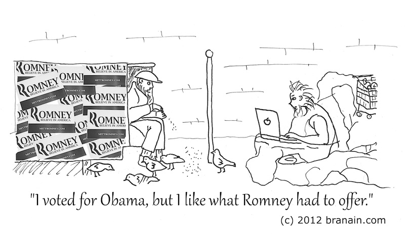2012 Election Day Results - Everyone Is a Winner (cartoon by Branáin)