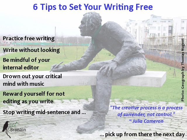 infographic, writing tips, writer statue
