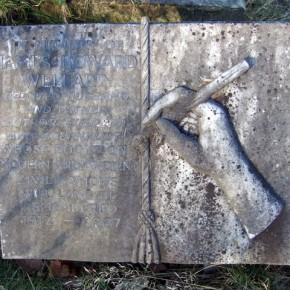 writer's gravestone, Geograph