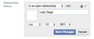 Facebook open relationship status