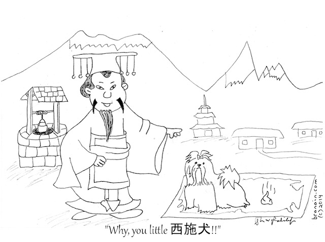 The Mundane Life of the Emperor of China (cartoon - branain.com)