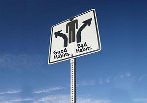 Good Habits, Bad Habits Sign (Flickr by The People Speak)