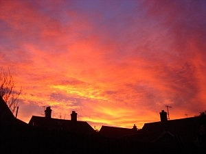 Orange Sky at Night in the Suburbs (Geograph by John Wernham)