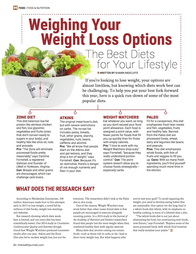 Weighing Your Weight Loss Options - The Health Journal - December 29, 2014 - Shawn Radcliffe