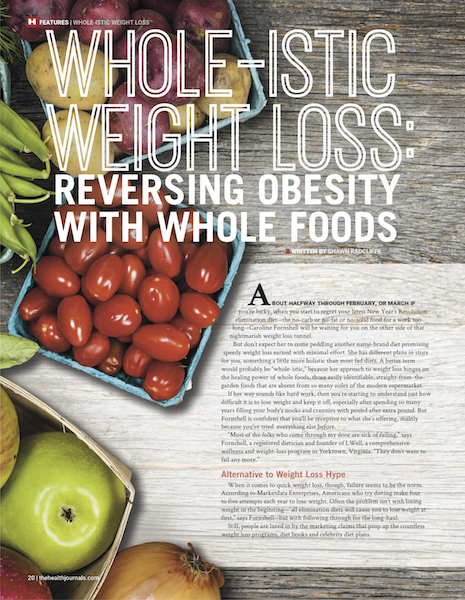 Whole-istic Weight Loss - The Health Journal - January 2015 - Shawn Radcliffe
