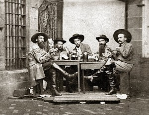 old photograph, civil war, POWs, prisoners of war, Confederates, Pennsylvania, pennitentiary, playing cards