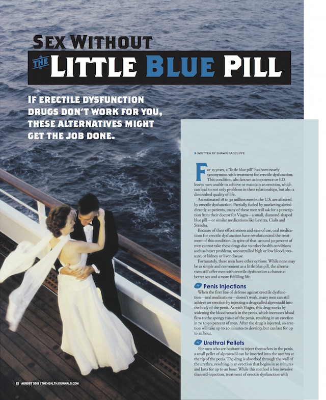 Sex Without the Little Blue Pill - The Health Journal August 2013 - by Shawn Radcliffe