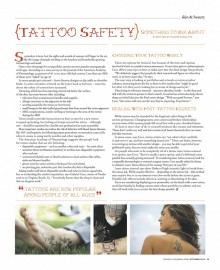 Tattoo Safety: Something to Ink About