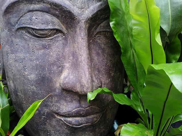 Face of a Zen Buddha statue