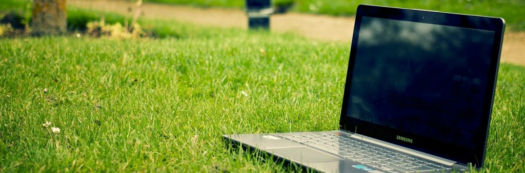 writing and editing services - laptop - outdoors - park