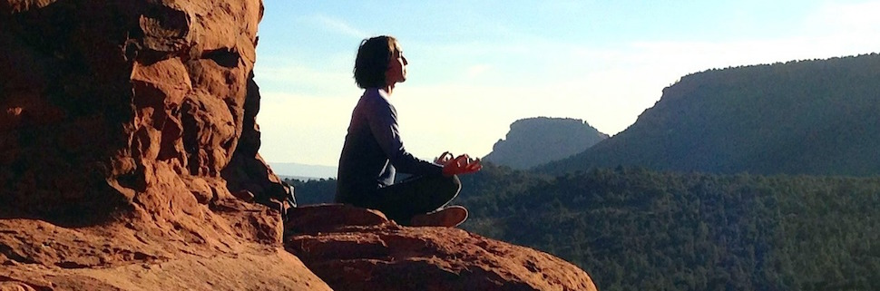 yoga teaching - meditation - peaceful - mountain - outdoors