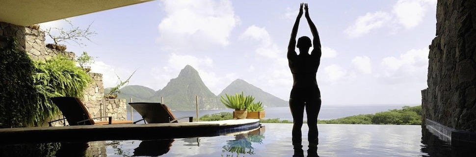 yoga classes and workshops - yoga pose - outside - water - mountains