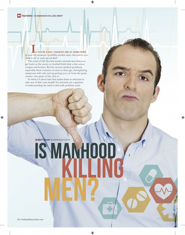 The Health Journal: Is Manhood Killing Men (June 1, 2015 by Shawn Radcliffe, p.1)