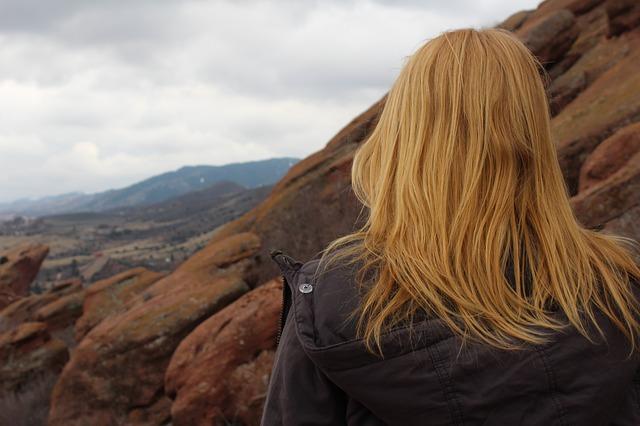 teens, redhead, nature