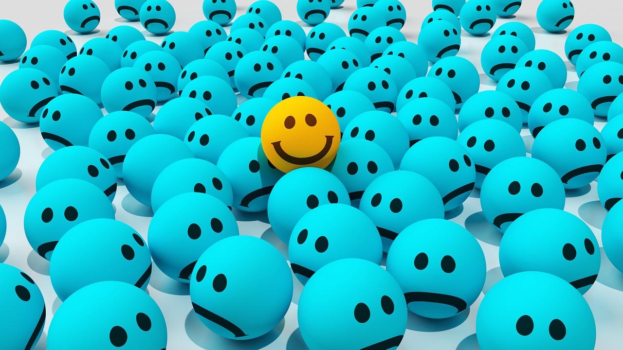 Happy and Sad Smiley Faces